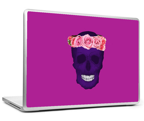 Laptop Skins, Crown Of Roses - Skull Artwork Laptop Skin, - PosterGully