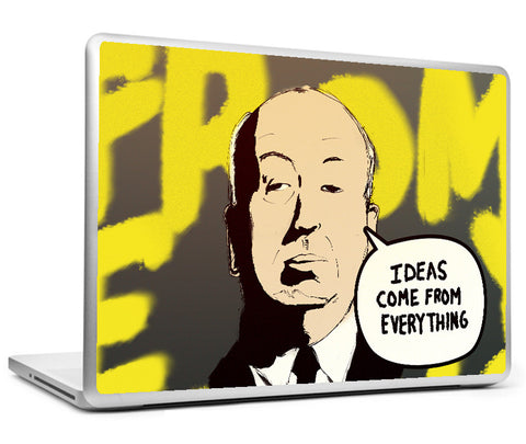 Laptop Skins, Alfred Hitchcock - Ideas - Comics Laptop Skin, - PosterGully