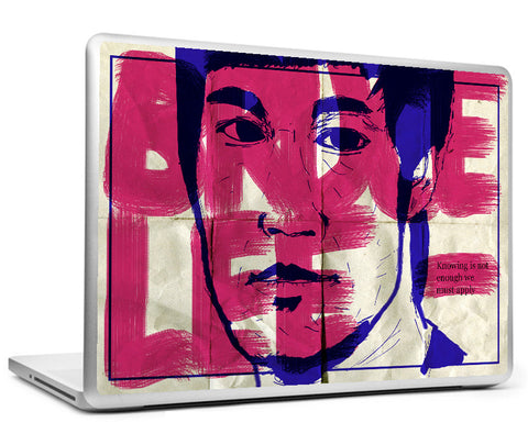 Laptop Skins, Bruce Lee - Knowing - Quote Laptop Skin, - PosterGully
