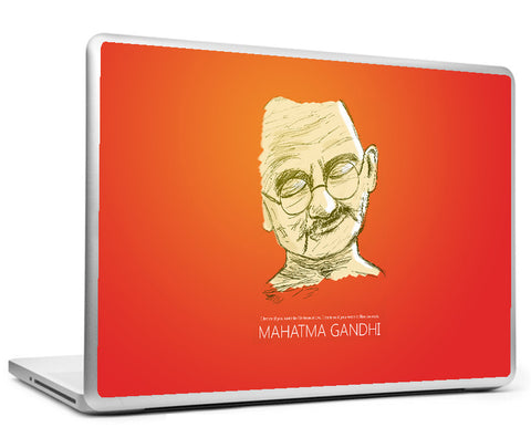 Laptop Skins, Mahatma Gandhi - Live As If - Quote Laptop Skin, - PosterGully