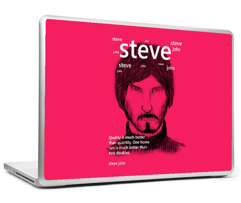 Laptop Skins, Steve Jobs On Quality Laptop Skin, - PosterGully