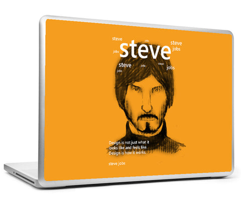 Laptop Skins, Steve Jobs On Design Laptop Skin, - PosterGully