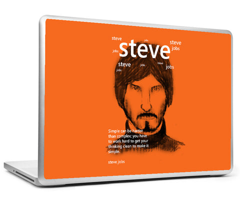 Laptop Skins, Steve Jobs On Simplicity Laptop Skin, - PosterGully