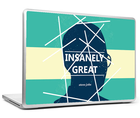 Laptop Skins, Insanely Great - Steve Jobs Artwork Laptop Skin, - PosterGully