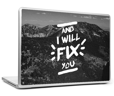 Laptop Skins, Fix You Coldplay Laptop Skin, - PosterGully