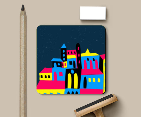 Colorful House Coasters | Artist : Nisha Prabhu