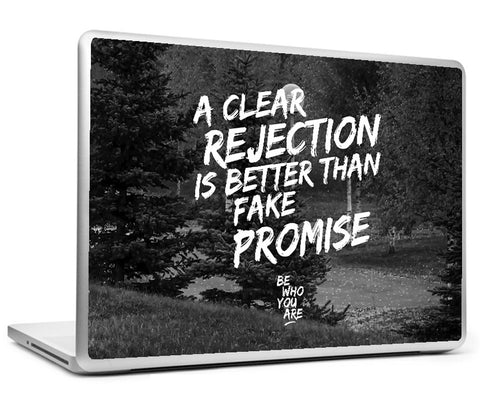 Laptop Skins, A Clear Rejection #bewhoyouare Laptop Skin, - PosterGully