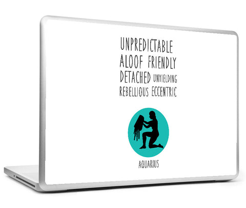 Laptop Skins, Aquarious Astrological Sign Laptop Skin, - PosterGully