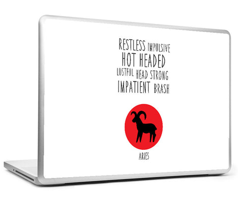 Laptop Skins, Aries Astrological Sign Laptop Skin, - PosterGully