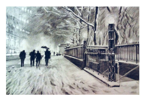 Snow Wall Art  | Artist : Sukanya Chakraborty