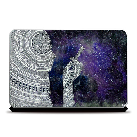 Smoke in the galaxy Laptop Skins | Artist : Devi