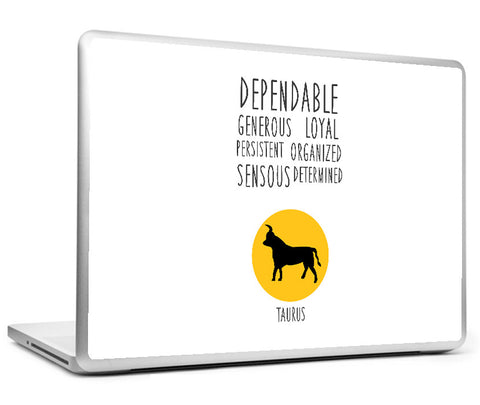 Laptop Skins, Taurus Astrological Sign Laptop Skin, - PosterGully