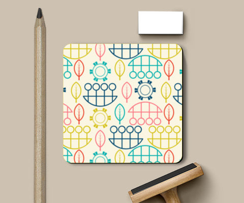 Multicolored art design vector pattern Coasters | Artist : Designerchennai