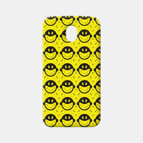 Monkey tongue out on black and yellow Moto G3 Cases | Artist : Designerchennai