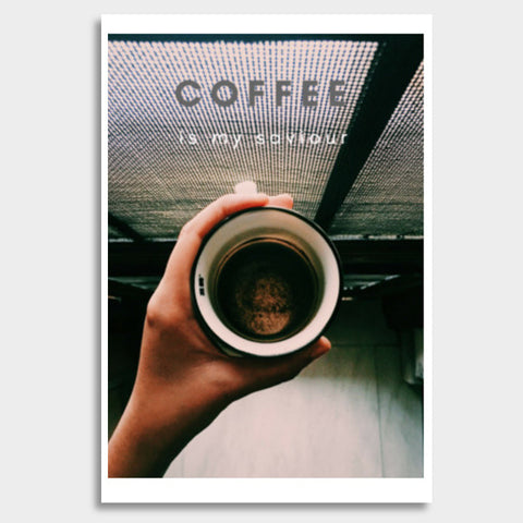 Coffee is my saviour  Giant Poster | Artist : nandita sharma