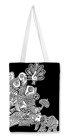 Tote Bags, India Zenscrawl Tote Bags | Artist : Meghnanimous, - PosterGully