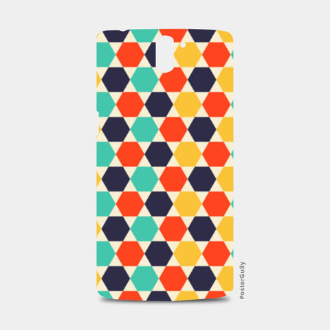Multi colored repetition shape background One Plus One Cases | Artist : Designerchennai