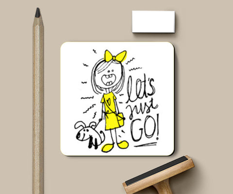 Let's Just Go! Coasters | Artist : Garima Shukla