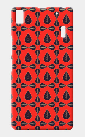 Seamless pattern with leaves on red background Lenovo A7000 Cases | Artist : Designerchennai