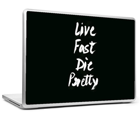Laptop Skins, Live Fast Die Pretty #swag Laptop Skin, - PosterGully