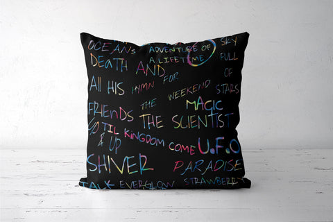 COLDPLAY | SONGS Cushion Covers | Artist : SREY