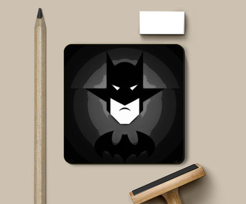 Coasters, Mr. Bat Black Coasters | Artist : Jax D, - PosterGully
