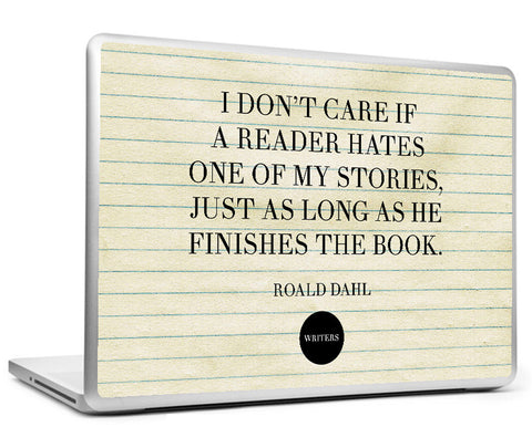 Laptop Skins, Hates Quote - Roald Dahl #writers Laptop Skin, - PosterGully