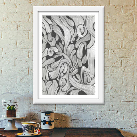 abstract doodle Premium Italian Wooden Frames | Artist : Raj Patel