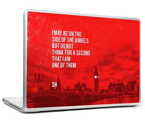 Laptop Skins, Sherlock Holmes - Quote - Side Of Angels Laptop Skin, - PosterGully