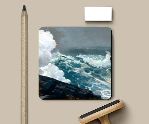 Northeaster by Winslow Homer Coasters | Artist : Aditya Gupta