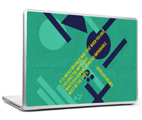 Laptop Skins, Sherlock Holmes - Quote - Truth Remains Laptop Skin, - PosterGully