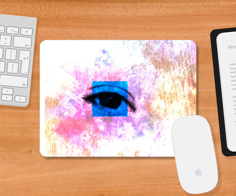 Mousepad, White Eyes Watching Mouse Pad Mousepad | Artist : Mohith Dhyanesh, - PosterGully