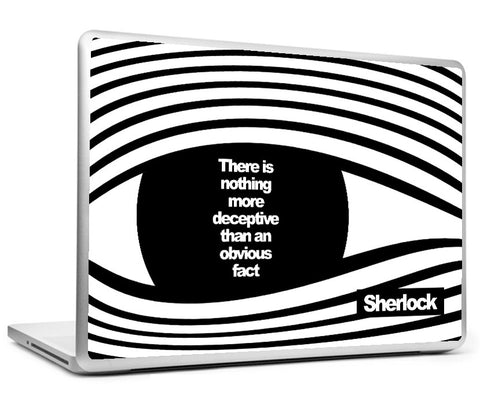 Laptop Skins, Sherlock Holmes - Quote - More Deceptive Laptop Skin, - PosterGully