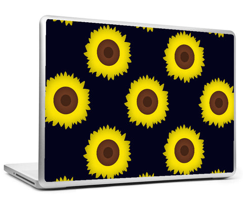 Laptop Skins, Happy Sunflowers Laptop Skin, - PosterGully