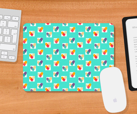 Mousepad, Heart in a Box (Blue) Mousepad | Artist : Tanvi C, - PosterGully