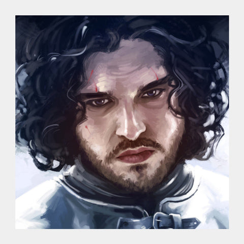Square Art Prints, Game of Thrones | Jon Snow the Watcher Square Art Prints | Artist : Aniruddha Lele, - PosterGully