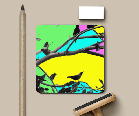 Birdies in Color Coasters | Artist : Anjuri Jain