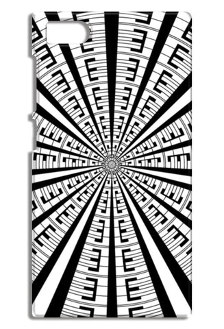 Abstract Geometric Black And White Designer Pattern Mi3-M3 Cases | Artist : Seema Hooda