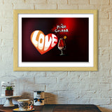 Premium Italian Wooden Frames, Cocktail Love Premium Italian Wooden Frames | Artist : Anushree Jaiswal, - PosterGully - 1