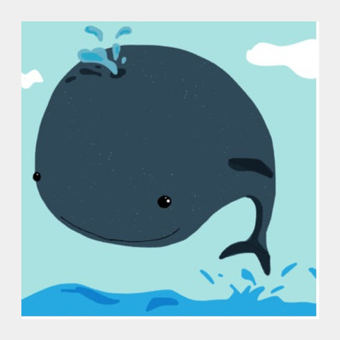 Square Art Prints, Whale I love you Square Art | Artist: saurabhzuve, - PosterGully