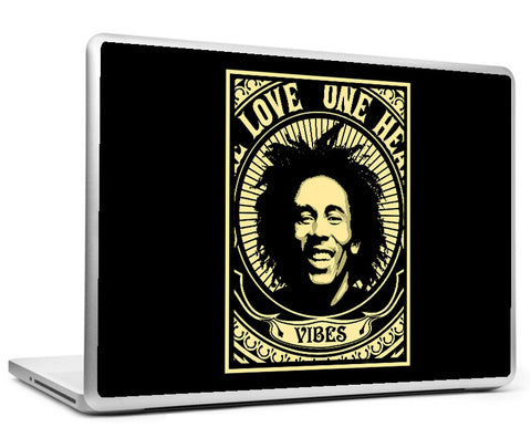 Laptop Skins, Bob Marley Vibes By Ankit Guleria Laptop Skin, - PosterGully