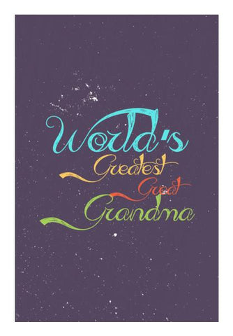 PosterGully Specials, Great grandma calligraphy Wall Art | Artist : Designerchennai, - PosterGully