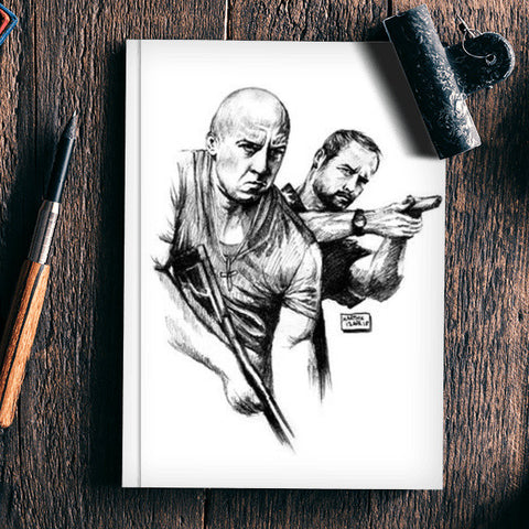 Fast and Furious Notebook | Artist : Karthik Abhiram