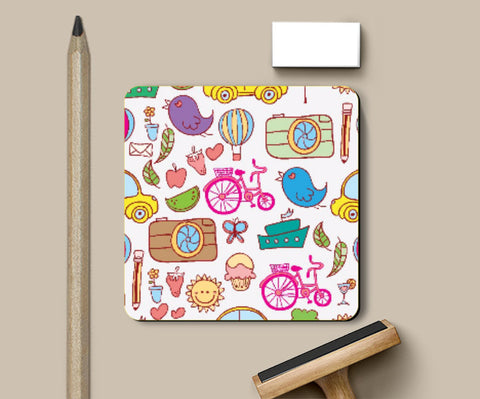 Coasters, Colorful Doodles Coaster | Artist: Pratyusha Subramaniam, - PosterGully