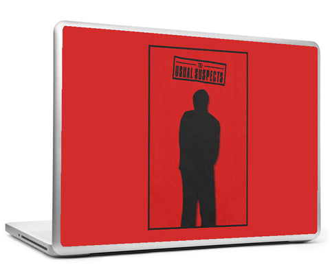 Laptop Skins, The Usual Suspects Minimal Red Laptop Skin, - PosterGully
