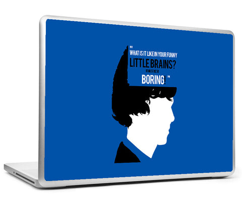 Laptop Skins, Sherlock Holmes Funny Little Brains Laptop Skin, - PosterGully