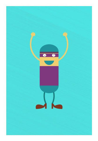 PosterGully Specials, Cartoon Man Standing Hold Hands Up Wall Art | Artist : Designerchennai, - PosterGully