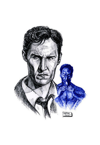 Wall Art, Matthew McConaughey in True Detective Wall Art | Artist : Karthik Abhiram, - PosterGully