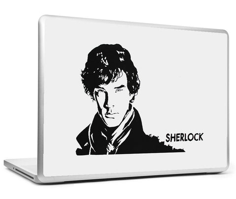 Laptop Skins, Sherlock Black Sketch Laptop Skin, - PosterGully