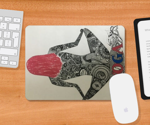 zen art black and white mousepad Mousepad | Artist : Priyanka Singhania